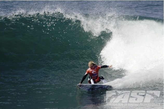 Owen Wright (AUS), 22, was dominant in his Round 1 heat today at the Rip Curl Pro Bells Beach presented by Ford Ranger.