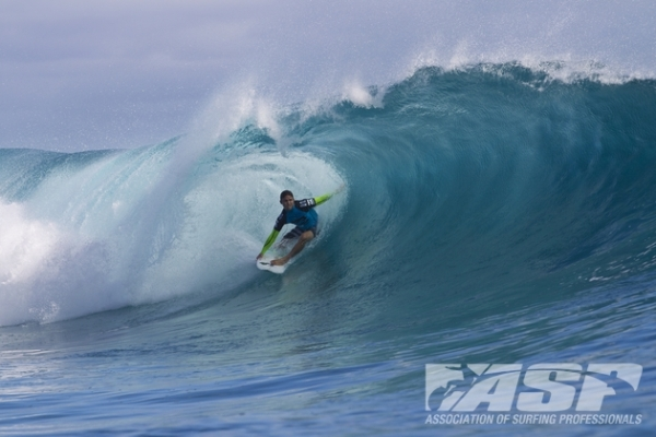 Yadin Nicol (AUS), 26, will take on Miguel Pupo (BRA), 20, in the elimination Round 2 of the Billabong Pro Tahiti.