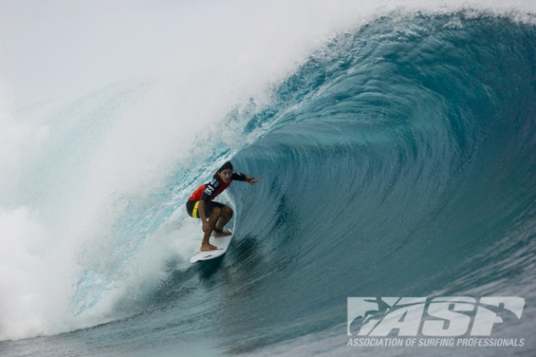 Miguel Pupo (BRA), 20, was today's standout on Day 2 of the Billabong Pro Tahiti.