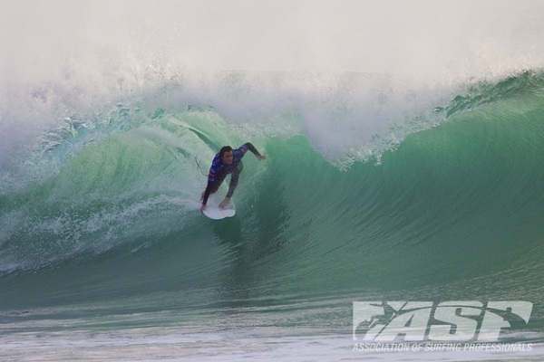 Brett Simpson (USA), 27, will open up the Rip Curl Pro Portugal in Heat 1 Round 1 when competition commences.