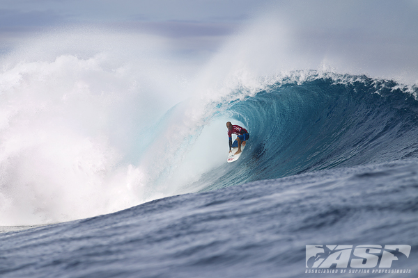 Kelly Slater (USA), 40, reigning 11-time ASP World Champion and current ASP World No. 2, claimed the Volcom Fiji Pro today in pumping surf at Cloudbreak.