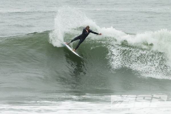 Dusty Payne (HAW), 23, blasting into Round 3 of the O'Neill Coldwater Classic.