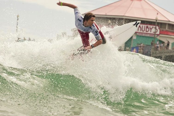 Two-times event champion and local favorite Brett Simpson (USA), 27, will be one national favorite to take on the international field at this year's Vans US Open of Surfing.