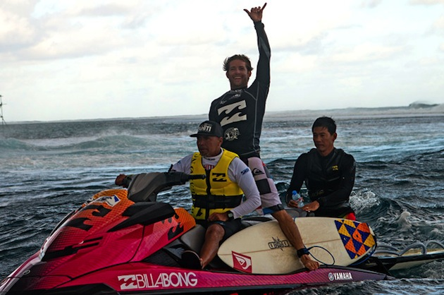 Alain Riou won his second career Air Tahiti Nui Trials, advancing to the 2013 Billabong Pro Tahiti main event.