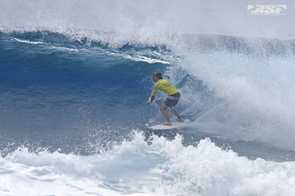 Mitch Parkinson (AUS) on one of the waves of the day. Pic ASP/Will H-S