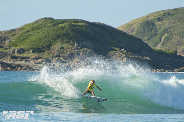 Nikki Van Dijk (Phillip Island, VIC/AUS), is one of only four females left in the women's Be The Influence Surf Pro draw. Pic ASP/Will H-S