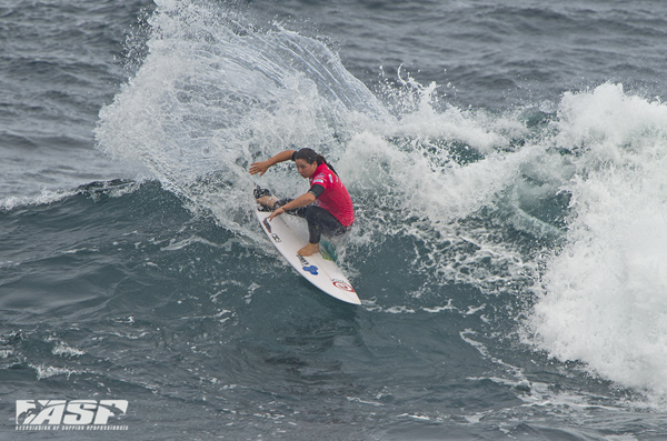 Tyler Wright (AUS) will match up against Sally Fitzgibbons (AUS) in the Semifinals. PIC ASP/Robertson
