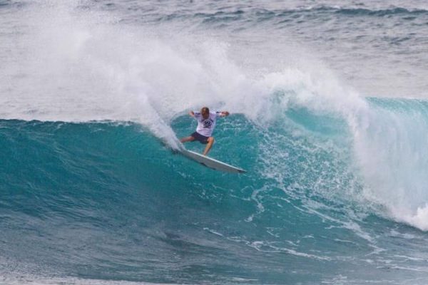 Maui's Tanner Hendrickson earned the top scores at HIC Pro pres. by Vans today.