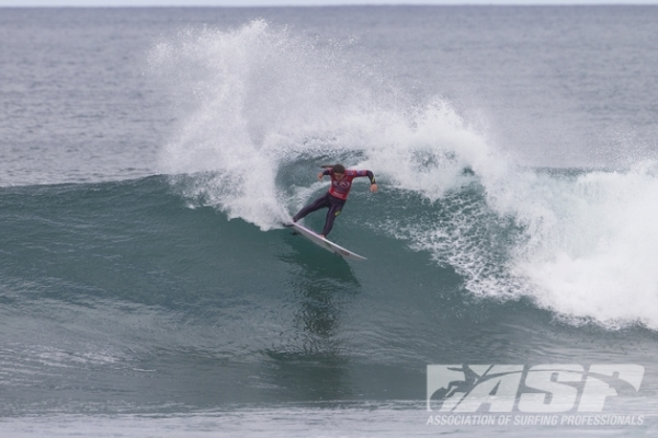 Tyler Wright (AUS), 18, current ASP WCT No. 1, into the Finals of the Rip Curl Women's Pro Bells Beach.