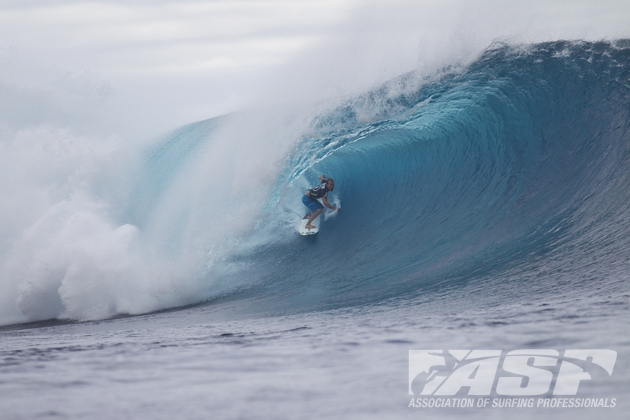 C.J. Hobgood (USA), 33, is always a threat in heavy cloudbreak conditions.