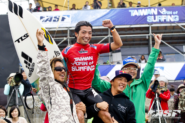 Jun Shiiba (JPN) winner of the first ever ASP event in Taiwan! Pic ASP/Will H-S