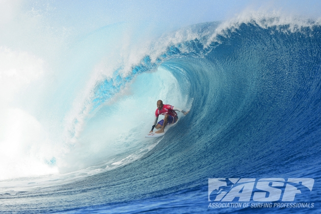 Kelly Slater (USA), 41, winner of the Volcom Fiji Pro and new ASP WCT No. 1.