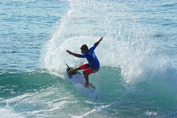 Brazil's Peterson Crisanto took part in the Los Cabos Open of Surf morning expression session. The goofy-footer will surf in Heat 14 of the Round of 96.