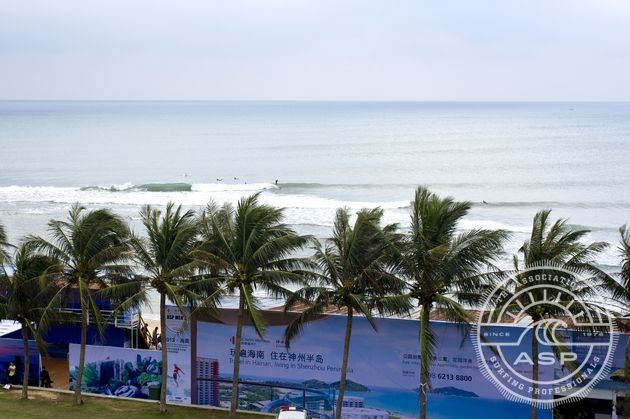 Small waves and a layday on day 2 at the Riyue Bay ASP World Longboard Championships in China today.   Photo: ASP/Will  H-S