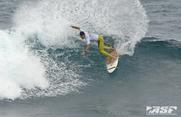 New Zealand's Jay Quinn (NZL) was one of yesterday's standout surfers and will be back in action today. PIC ASP/Robertson