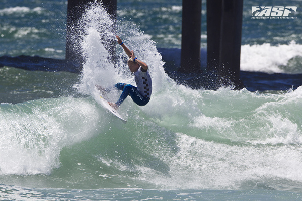 Mitch Crews (Gold Coast, QLD/AUS) advancing into the Round of 24 at the US Open today. Pic ASP/Rowland