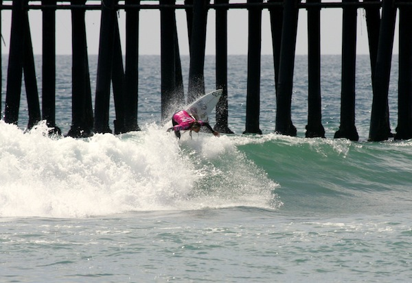 Australia's Keeley Andrew, 18, earned the highest scores on opening day of the Ford Supergirl Pro.