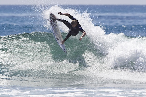 Kolohe Andino (USA), 19, will face off against Taj Burrow (AUS), 35, in Heat 3 Round 3 of the Hurley Pro at Trestles.