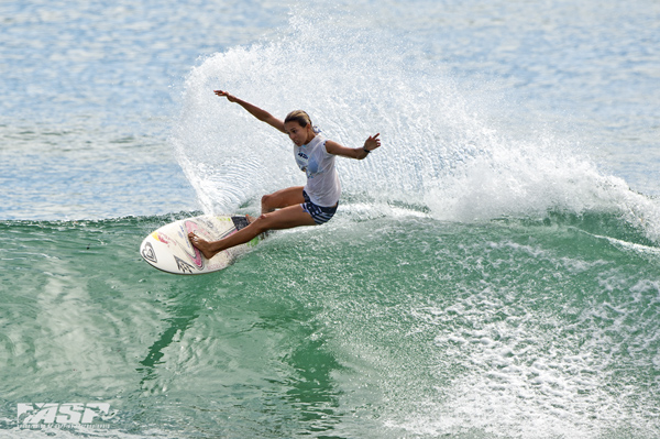 Sally Fizgibbons (AUS), today's top performer. Pic ASP/Will H-S