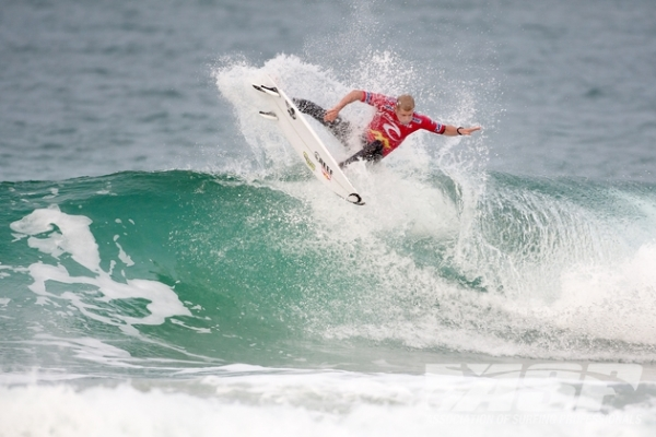 Mick Fanning (AUS), 32, current ASP WCT No. 1, advanced through to Round 3 of the Rip Curl Pro Portugal at Supertubos.