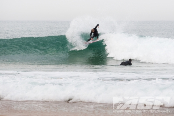 Kolohe Andino (USA), 19, warming up at La Penon on a lay day for the Quiksilver Pro France.