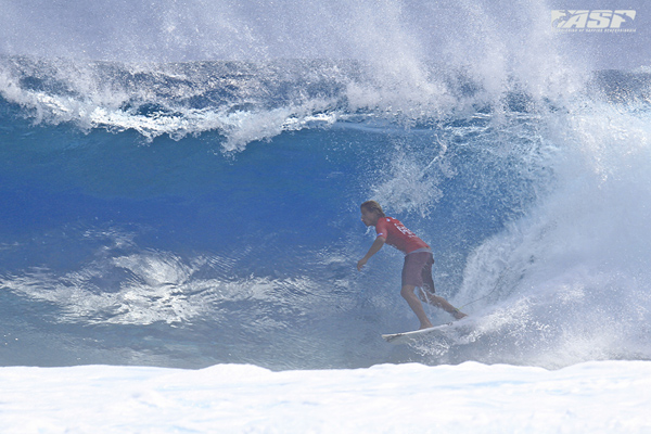 Soli Bailey (AUS) on his perfect 10-point-ride. Pic ASP/Will H-S