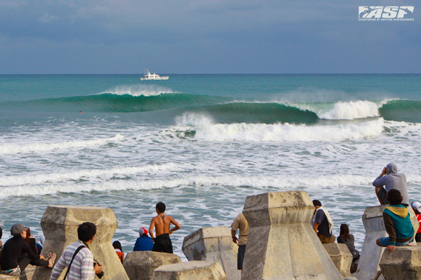 Jinzun Harbor during last year's Taiwan Open of Surfing. Pic ASC/Hain