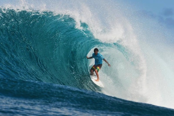 Seth Moniz, 16, en route to a big Round 1 win at the Vans World Cup.