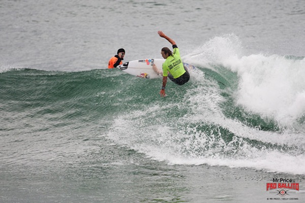Jordy Smith earned the event's highest scores on day four of the ASP Prime Mr Price Pro Ballito.
