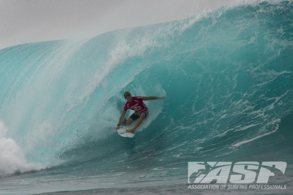 John John Florence (HAW), 20,returned to ASP competition today and was in sizzling form at the Volcom Fiji Pro.