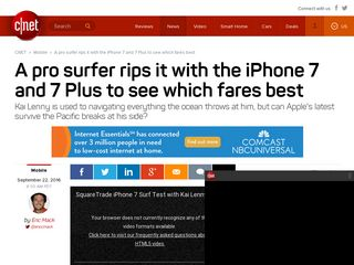 A pro surfer rips it with the iPhone 7 and 7 Plus to see which fares best - CNET