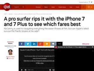 A pro surfer rips it with the iPhone 7 and 7 Plus to see which fares ... - CNET
