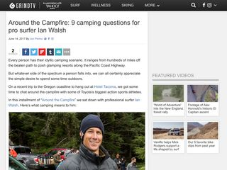 Around the Campfire: 9 camping questions for pro surfer Ian Walsh - GrindTV