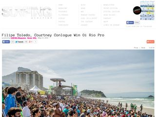 Filipe Toledo, Courtney Conlogue Win Oi Rio Pro - Surfing Magazine