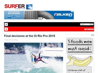 Final decisions at the Oi Rio Pro 2015 - SurferToday