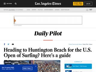 Heading to Huntington Beach for the US Open of Surfing? Here's a guide - Los Angeles Times