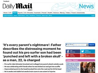 'It's every parent's nightmare': Father describes the distressing moment he found out his pro surfer son had been ... - Daily Mail