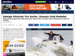 Kaleigh Gilchrist: Pro Surfer, Olympic Gold Medalist - Surfline.com Surf News