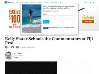 Kelly Slater Schools the Commentators at Fiji Pro! - TheInertia.com