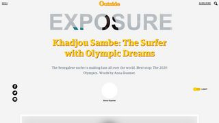 Khadjou Sambe: The Surfer with Olympic Dreams - Outside Magazine