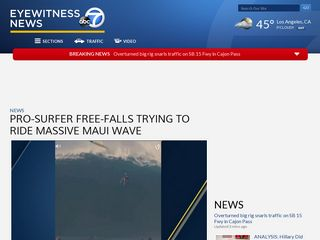 Pro-surfer free-falls trying to ride massive Maui wave - KABC-TV