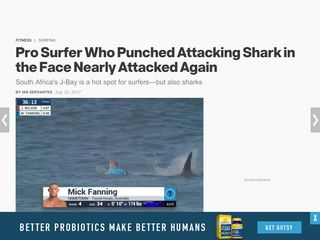 ​Pro Surfer Who Punched Attacking Shark in the Face Nearly Attacked Again - Men's Health