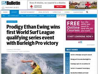 Rising surf star wins Burleigh Pro - Gold Coast Bulletin