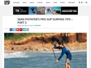 Sean Poynter's Pro SUP Surfing Tips – Part 2 - SUP Magazine