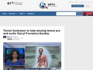 Tennis fundraiser to help missing tennis pro and surfer Darryl Fornatora Sunday - WPTV.com