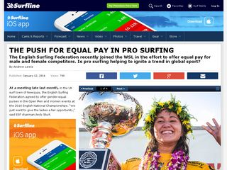 THE PUSH FOR EQUAL PAY IN PRO SURFING - Surfline.com Surf News