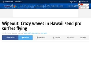 Wipeout: Crazy waves in Hawaii send pro surfers flying - kfor.com