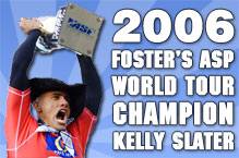 Kelly Slater 2006 WCT World Champ. Pic credit ASP Tostee