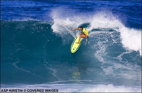Layne Beachley Roxy Pro Hawaii Sunset Beach.  Surfing Photo Credit ASP Tostee