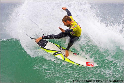 Troy Brooks Quiksilver Pro France Surf Contest.  Photo Credit ASP Media
